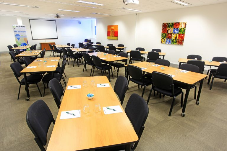 ATI-Mirage facilities; a large conference room.