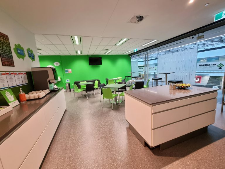 ATI-Mirage facilities; the break out room.